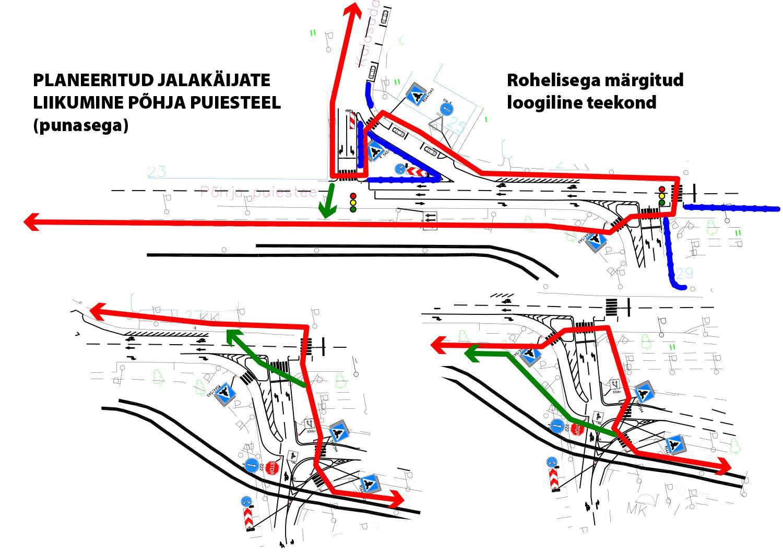 pohja puiestee absurdne liiklusplaneering